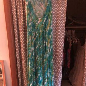 Liz Lange Maternity maxi tank dress, fun pattern!
